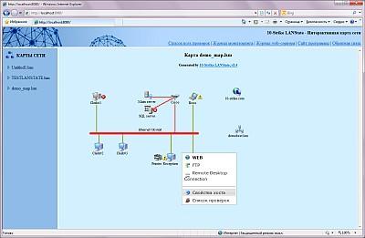веб-карта состояния сети (схема xml)